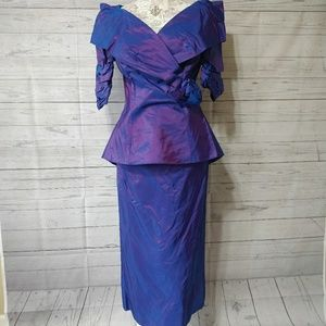 Vintage Alfred Angelo 80's Dress Iridescent 13/14